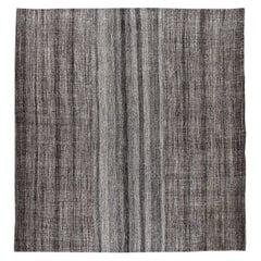 Vintage Mid-Century Modern Minimalist Flat-Weave Rug