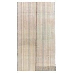 Vintage Mid-Century Modern Minimalist Persian Flat-Weave Rug