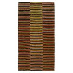 Vintage Mid-Century Modern Minimalist Persian Flatweave Rug