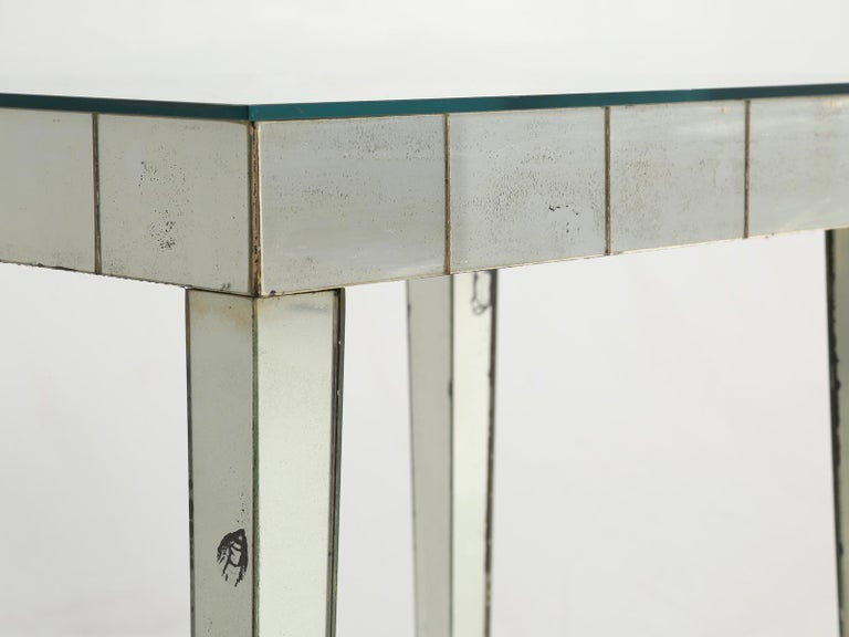 Vintage Mid-Century Modern Mirror End Table or Side Table For Sale 5
