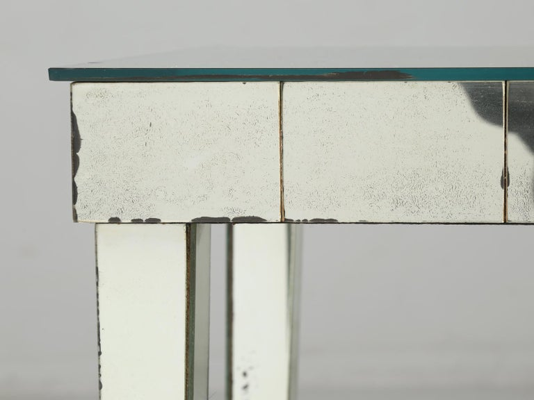 Vintage Mid-Century Modern Mirror End Table or Side Table For Sale 6