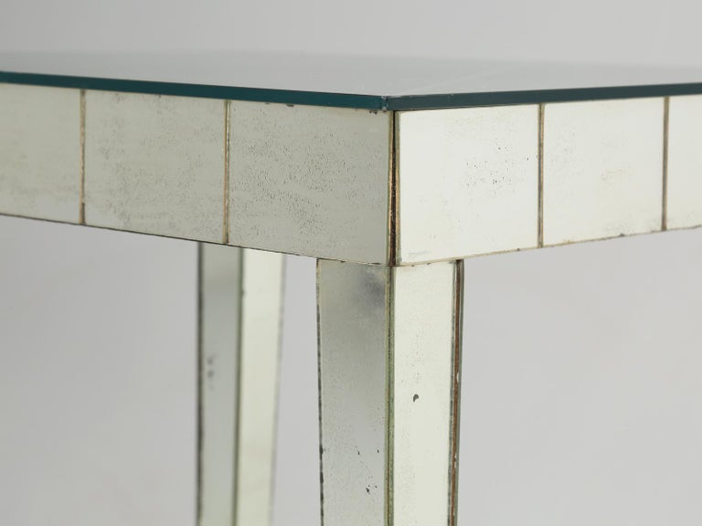 Vintage Mid-Century Modern Mirror End Table or Side Table For Sale 3