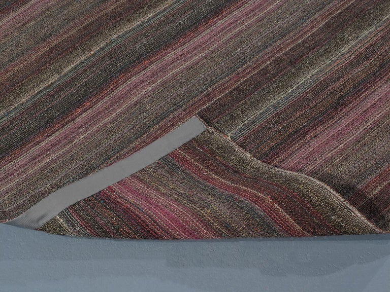 Vintage Mid-Century Modern Pelas Flat-Weave Rug In Good Condition For Sale In New York, NY