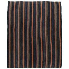Vintage Mid-Century Modern Persian Flat-Weave Rug