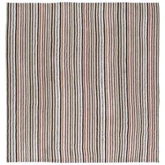 Vintage Mid-Century Modern Persian Pelas Flat-Weave Rug