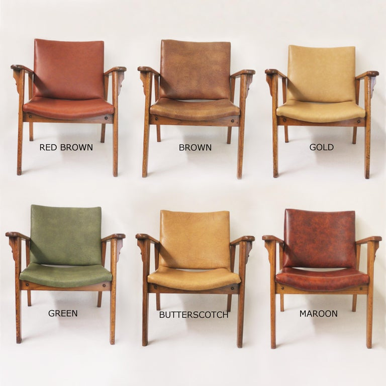 Vintage Mid-Century Modern Ranch Oak Side Chairs from Yellowstone National Park For Sale 6