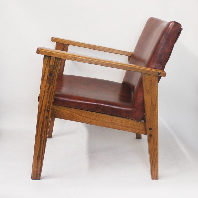 Mid-20th Century Vintage Mid-Century Modern Ranch Oak Side Chairs from Yellowstone National Park For Sale