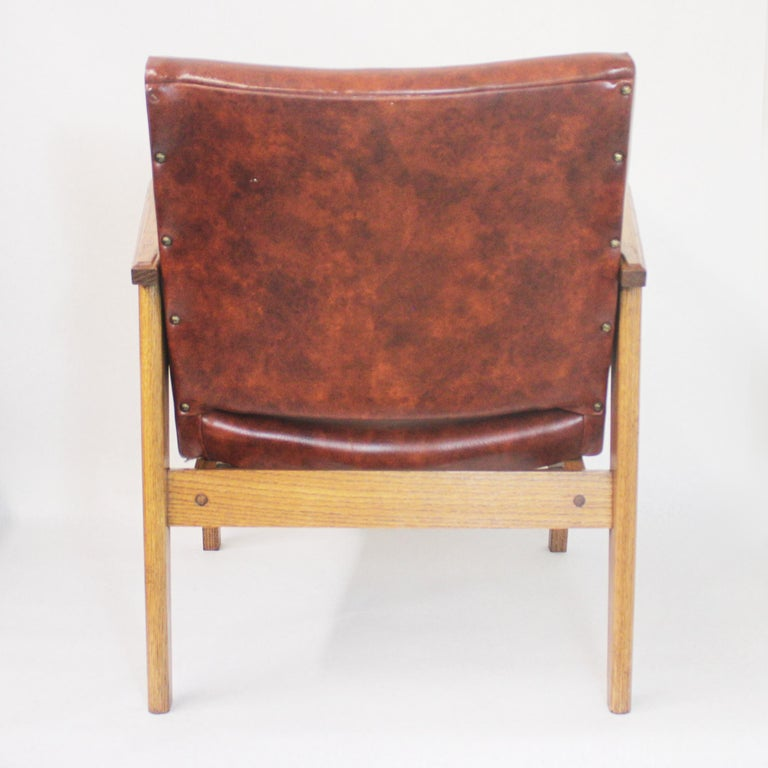 Vintage Mid-Century Modern Ranch Oak Side Chairs from Yellowstone National Park For Sale 1