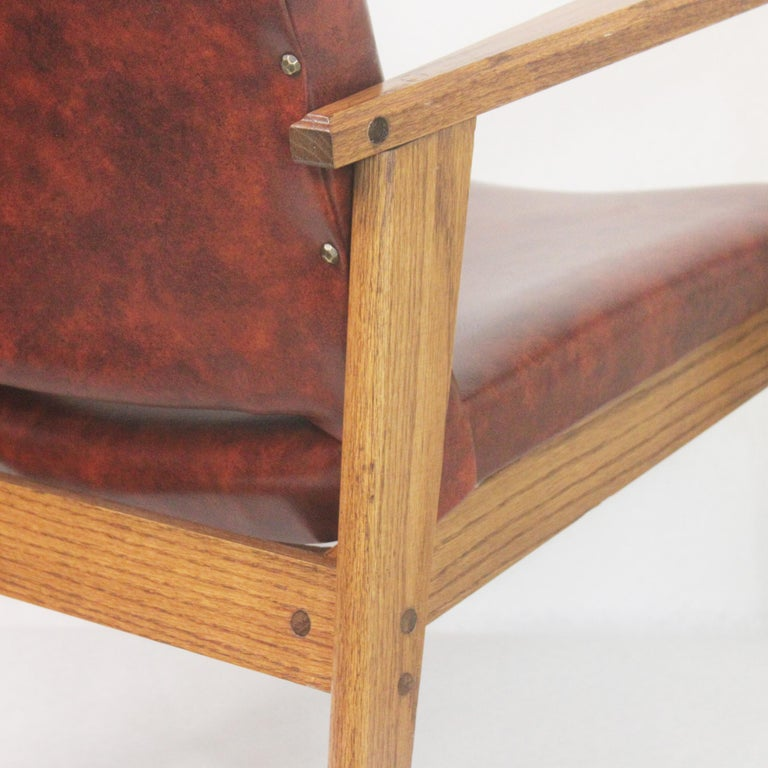 Vintage Mid-Century Modern Ranch Oak Side Chairs from Yellowstone National Park For Sale 3