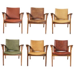 Vintage Mid-Century Modern Ranch Oak Side Chairs from Yellowstone National Park