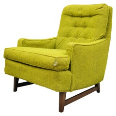 Vintage Mid-Century Modern Selig Monroe Upholstered Club Lounge Chair