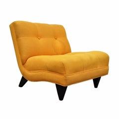 Vintage Mid-Century Modern Slipper Lounge Chair Gilbert Rohde Ed Wormley Danish