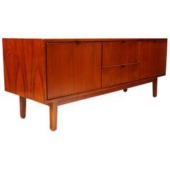 Vintage Mid-Century Modern Stow Davis Walnut Credenza TV Stand by Alexis Yermako