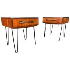 Vintage Mid-Century Modern Teak Nightstands by G Plan, a Pair