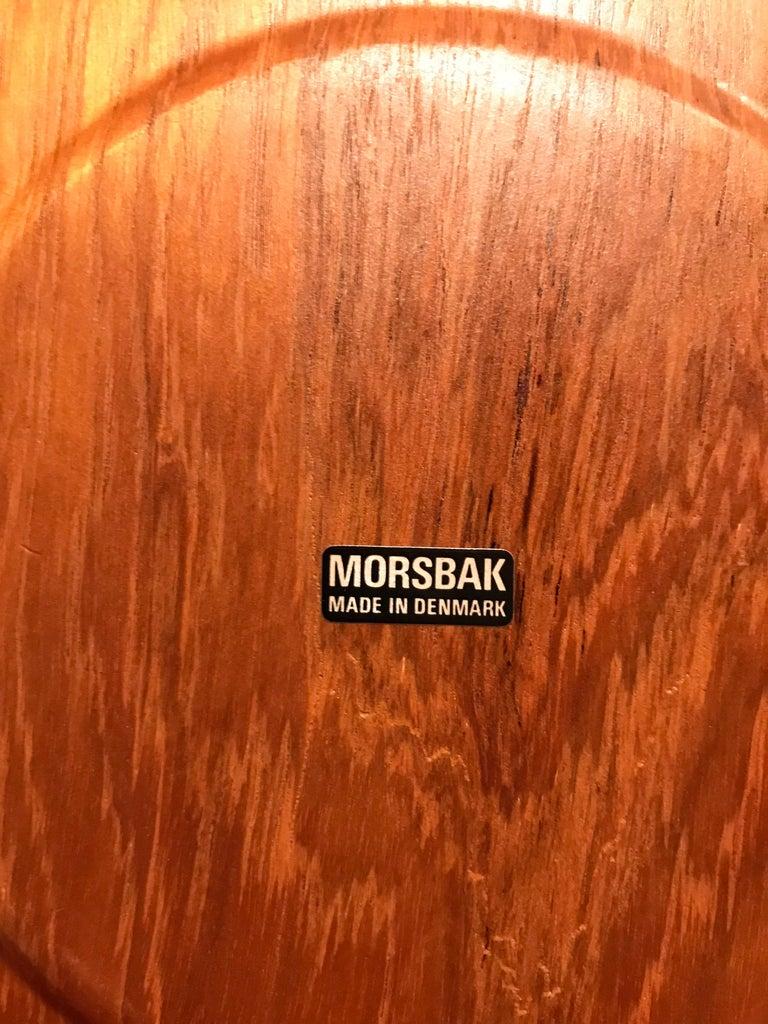Hand-Crafted Vintage Mid-Century Modern Teak Plates Made by Morsbak of Denmark For Sale
