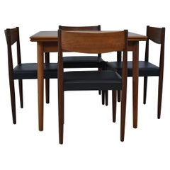 Vintage Mid-Century Modern Teak Table & Chairs Frem Rojle Denmark