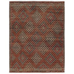 Vintage Mid-Century Modern Tribal Flatweave Rug
