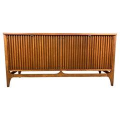 "Vintage Mid-Century Modern Walnut ""Brasilia"" Room Divider Credenza by Broyhill"