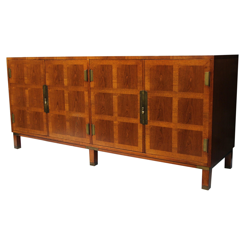Vintage Mid-Century Modern Walnut Credenza by Michael Taylor for Baker Furniture