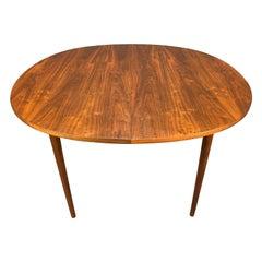 "Vintage Mid-Century Modern Walnut ""Declaration"" Dining Table by Drexel"