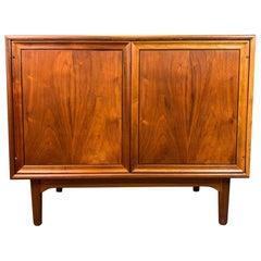 """Vintage Mid-Century Modern Walnut """"Declaration"""" Storage Cabinet by Drexel"""