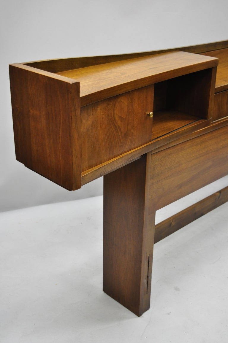 Full Size Storage Beds Extra Tall Diy Projects: Vintage Mid-Century Modern Walnut Full Size Storage