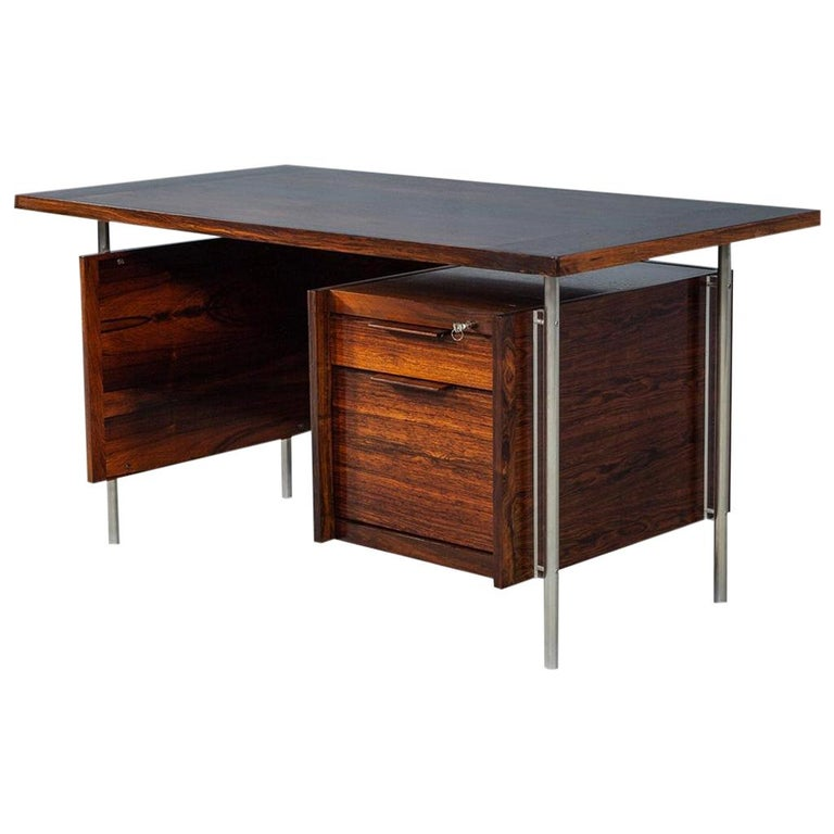 Vintage Mid Century Modern Writing Desk For