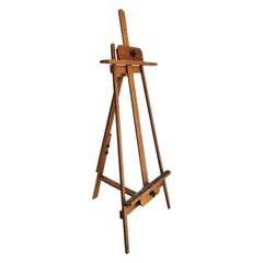 Vintage Mid-Century Overscale Artist's Painting Easel