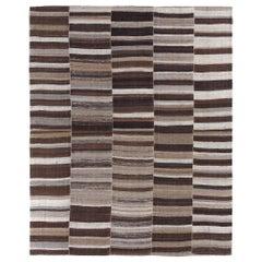 Vintage Midcentury Persian Flat-Weave Rug