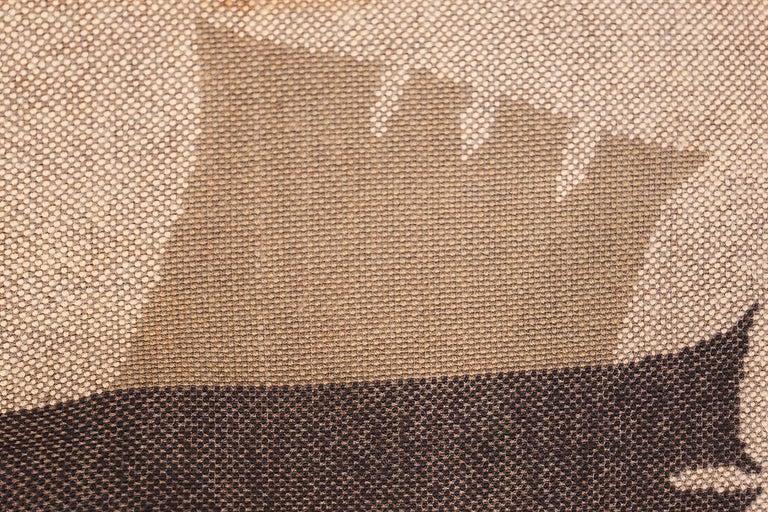 Vintage Midcentury Scandinavian Rya Shag Rug. Size: 8 ft 2 in x 11 ft 4 in For Sale 3