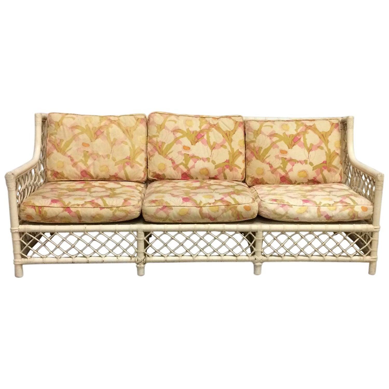 Wicker Sofa Old World Palm Beach Style