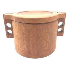 Vintage Midcentury Teak Ice Bucket Designed by Birgitte Krogh for Woodline