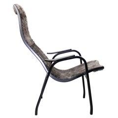 Vintage Midcentury Teak Kurva Lounge Chair by Yngve Ekström, 1940s