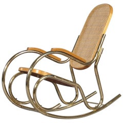Vintage Midcentury Thonet Style Rocking Chair, 1970s