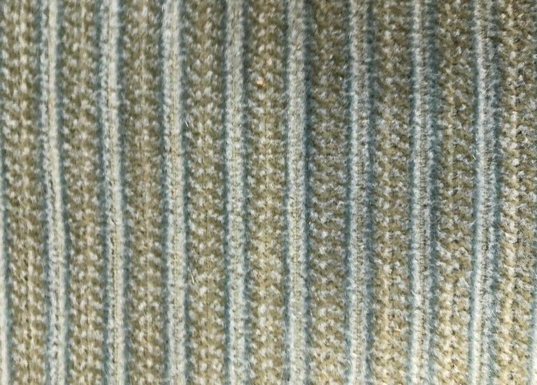 Mid-Century Modern Vintage Mid Century Unique Blue and Green Courduroy For Sale