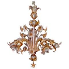 Vintage Midcentury Venetian or Murano Glass Chandelier