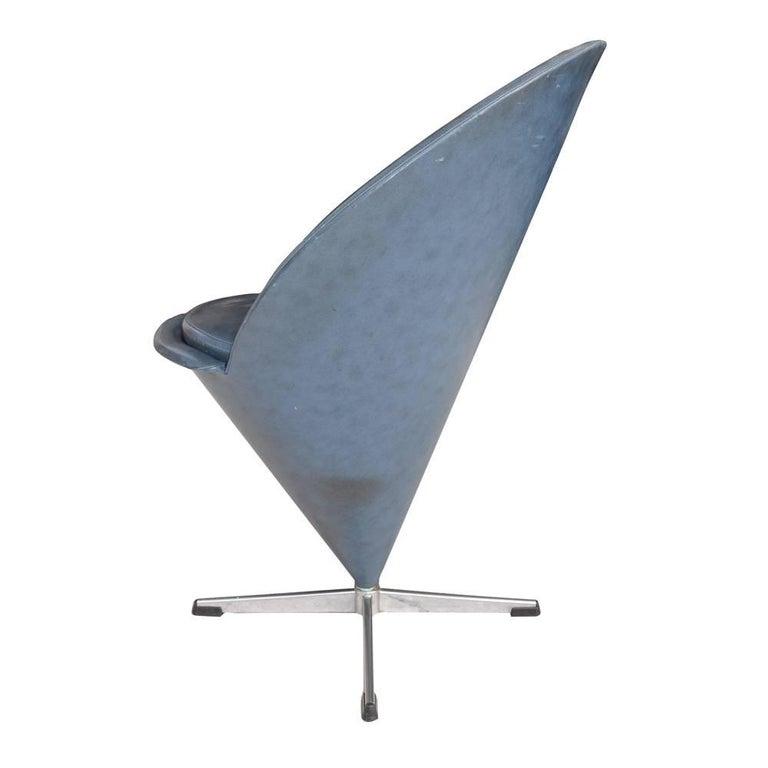 Mid-Century Modern Vintage Midcentury Verner Panton Cone Chair For Sale
