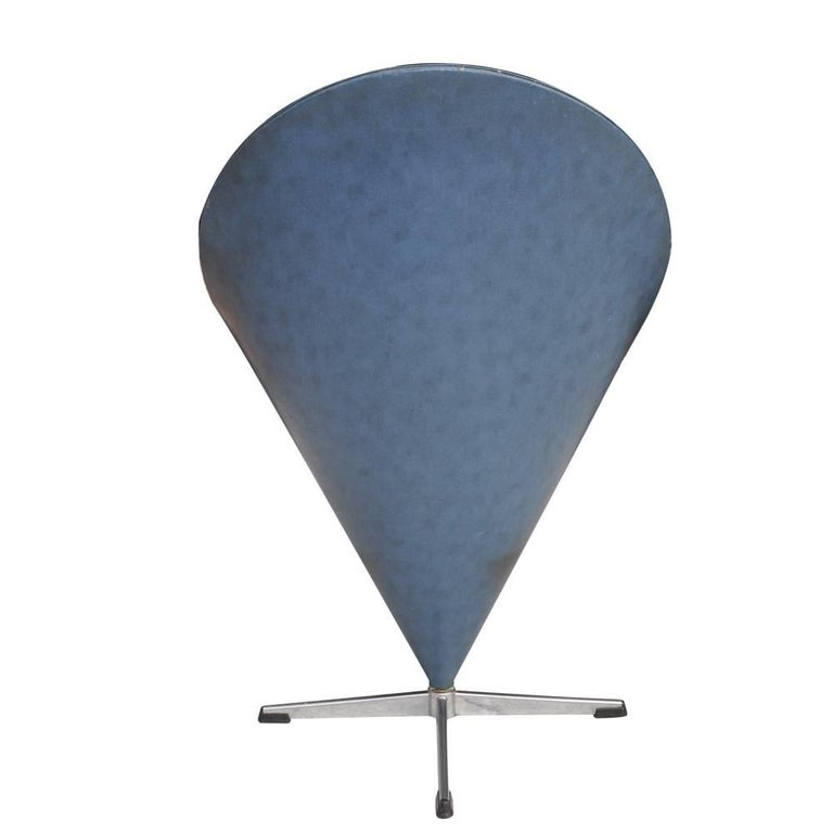 Swiss Vintage Midcentury Verner Panton Cone Chair For Sale
