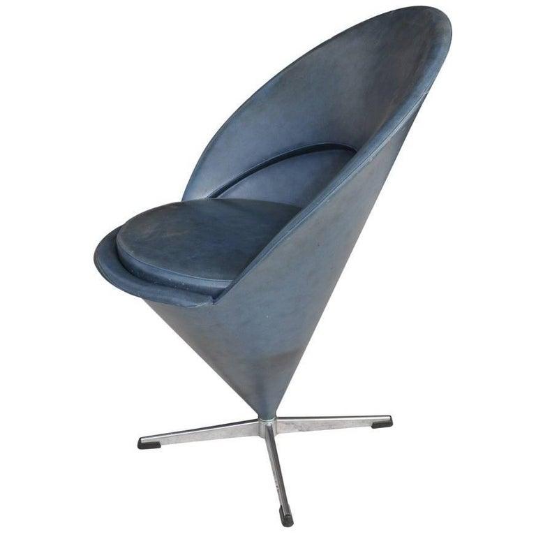 Vintage Midcentury Verner Panton Cone Chair For Sale