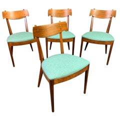 """Vintage Midcentury Walnut """"Declaration"""" Dining Chairs by Drexel, Set of Four"""