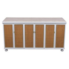 Vintage Mid-Century White Lacquered Credenza
