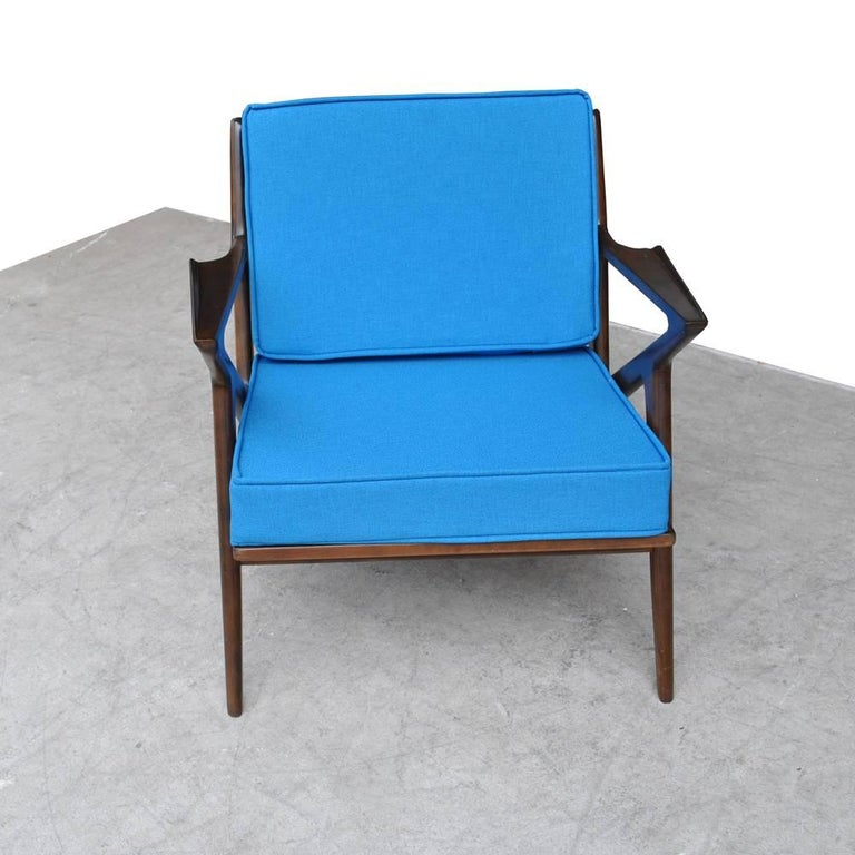 Danish Vintage Midcentury Z Chair by Poul Jensen for Selig For Sale