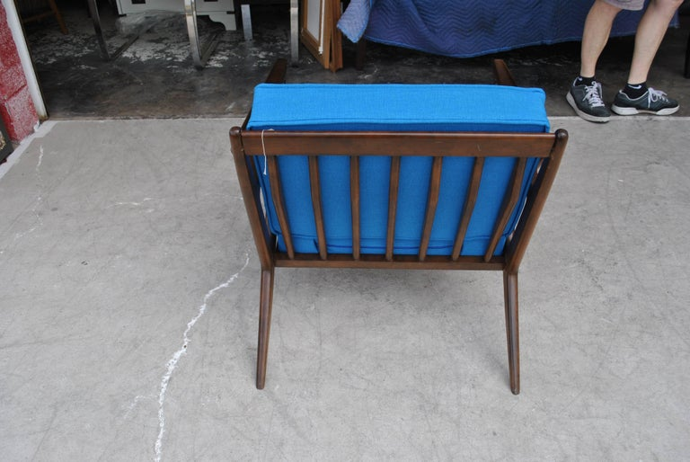 Vintage Midcentury Z Chair by Poul Jensen for Selig In Good Condition For Sale In Pasadena, TX