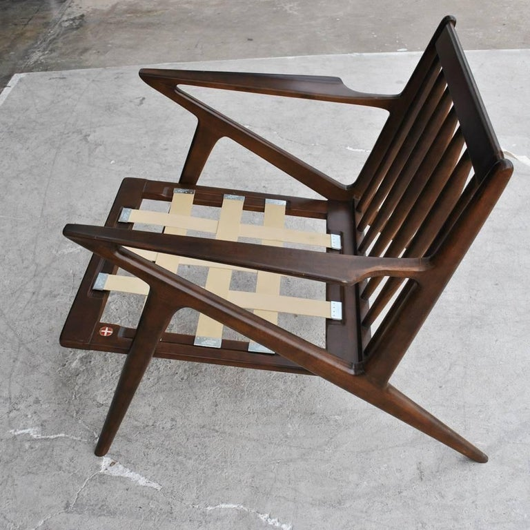 Vintage Midcentury Z Chair by Poul Jensen for Selig For Sale 2