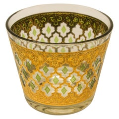 Vintage Midcentury 22-Karat Gold Leaf Ice Bucket by Culver, 1960s