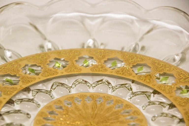 Vintage Midcentury 22-Karat Gold Leaf Plate by Culver, 1960s For Sale 3