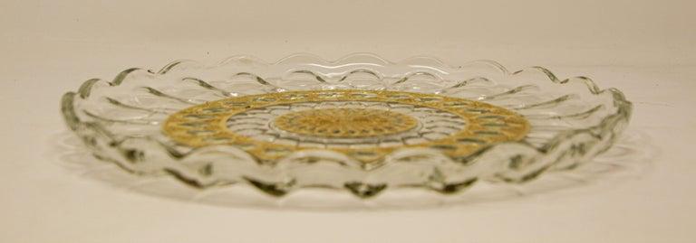 Vintage Midcentury 22-Karat Gold Leaf Plate by Culver, 1960s For Sale 8