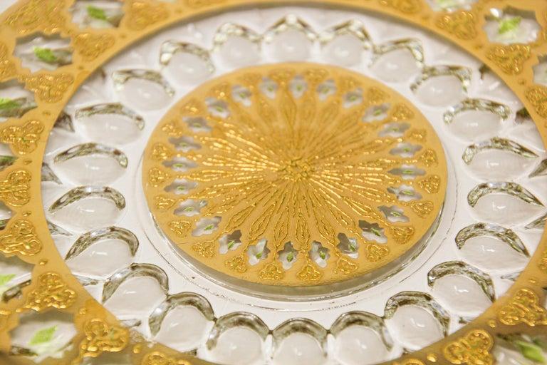 Hollywood Regency Vintage Midcentury 22-Karat Gold Leaf Plate by Culver, 1960s For Sale