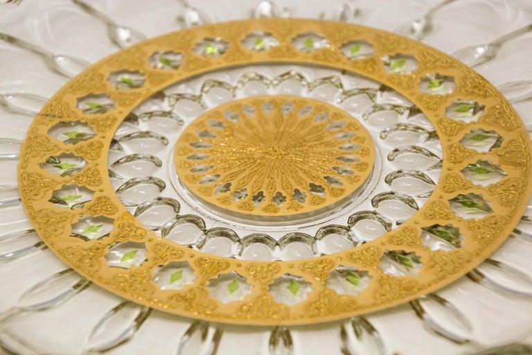 Glass Vintage Midcentury 22-Karat Gold Leaf Plate by Culver, 1960s For Sale