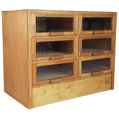 Vintage Midcentury 6-Drawer Haberdashery Cabinet Shop Display